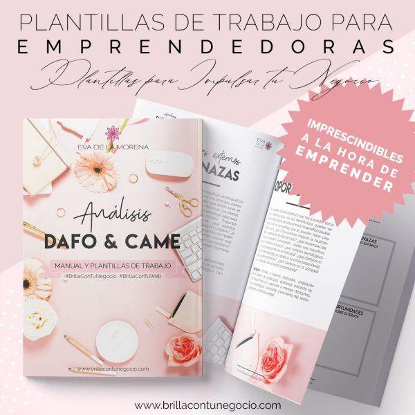 Manual y plantillas de trabajo Análisis DAFO y CAME - Brilla con tu Negocio | Eva de la Morena