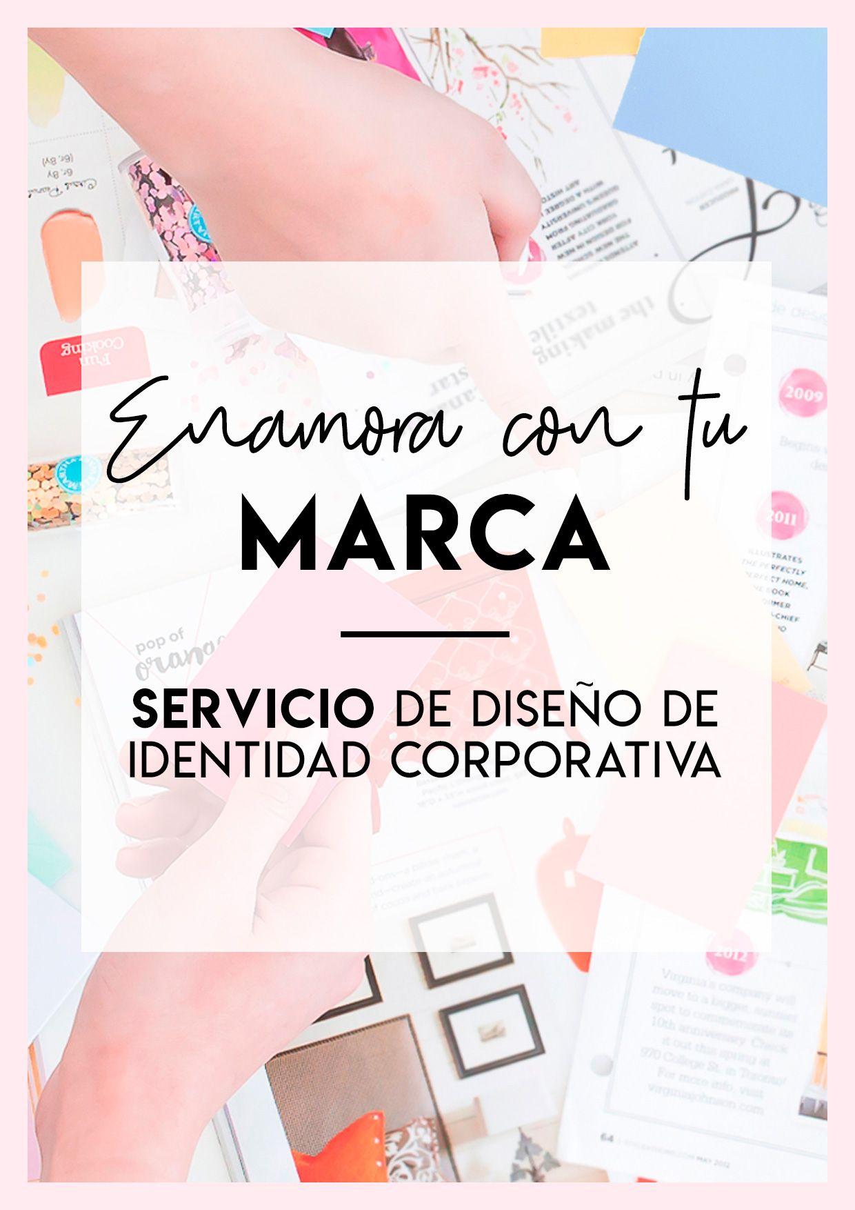 Enamora con tu marca, Diseño de marca, diseño de manual de identidad corporativa en brillacontunegocio.com