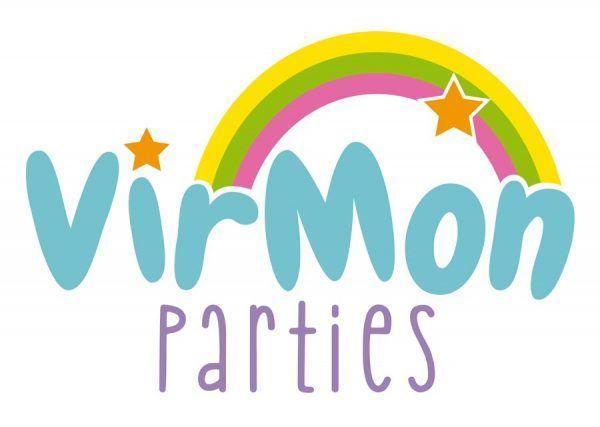 Logotipo Virmon Parties, Diseño de logotipo, diseño de marca, Brillacontunegocio.com