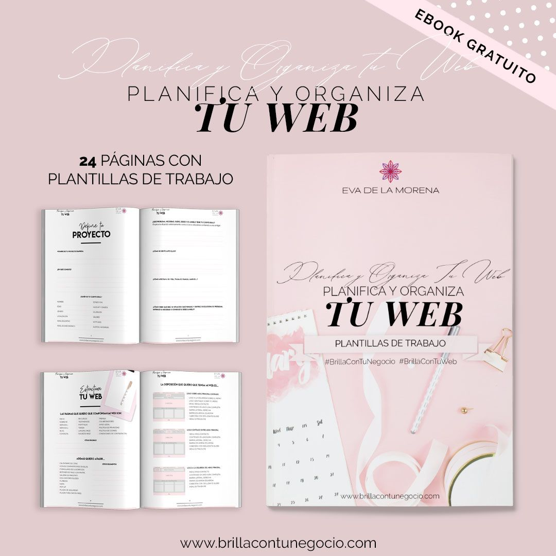 Planifica y Organiza tu Web - ebook con plantillas de trabajo para poner en marcha tu web y tu negocio online - BrillConTuNegocio.com