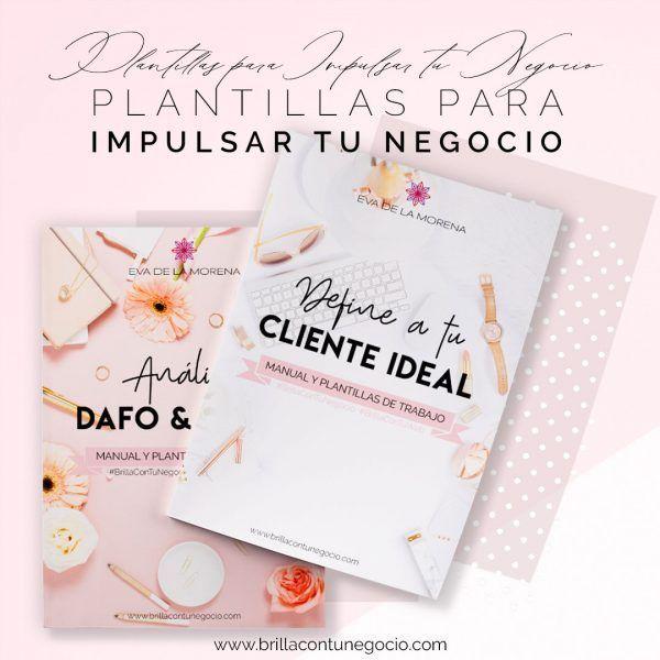 Manual y plantillas de trabajo Define a tu cliente ideal + Análisis DAFO y CAME
