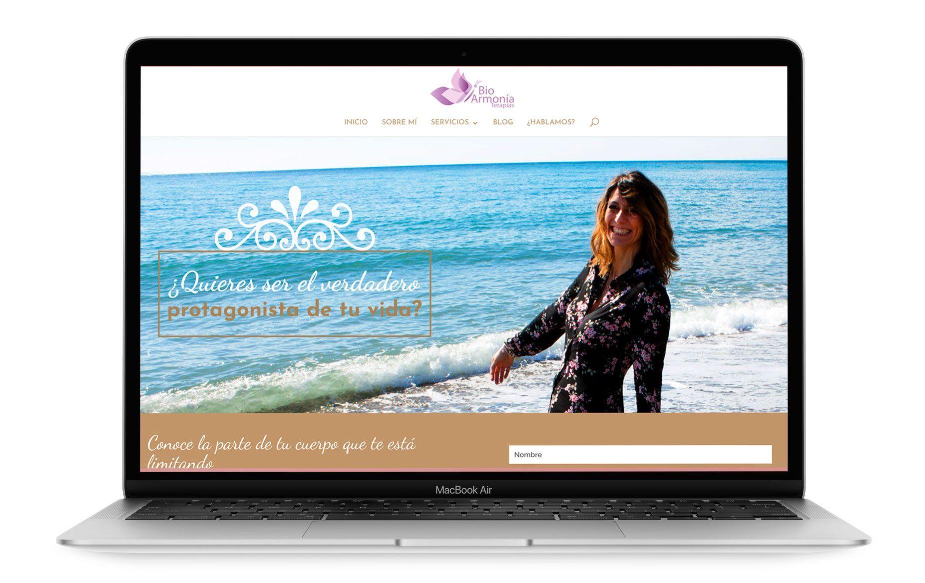 Diseño web de BioArmonia Terapias
