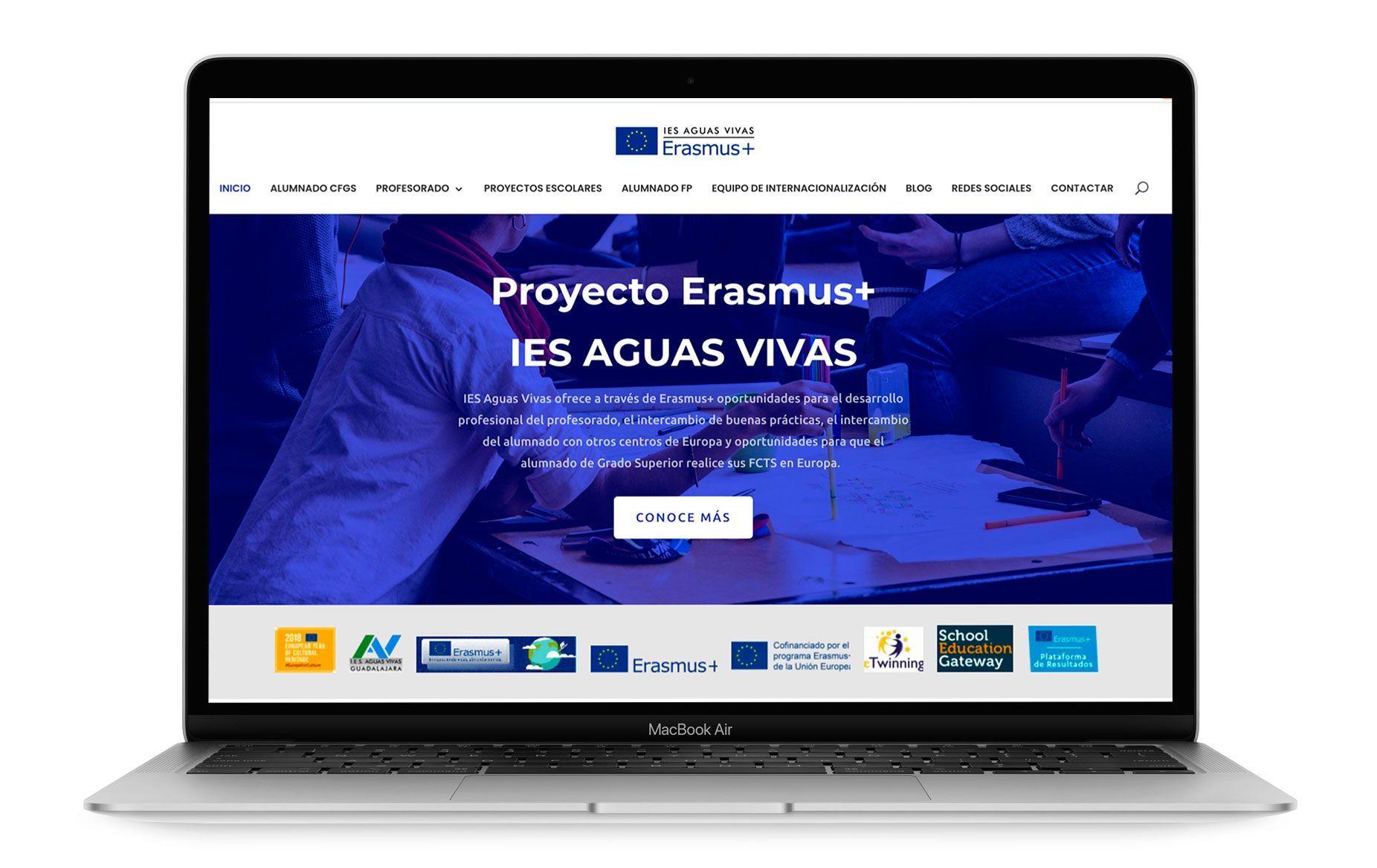 Diseño web de Proyecto Erasmus IES Aguas Vivas