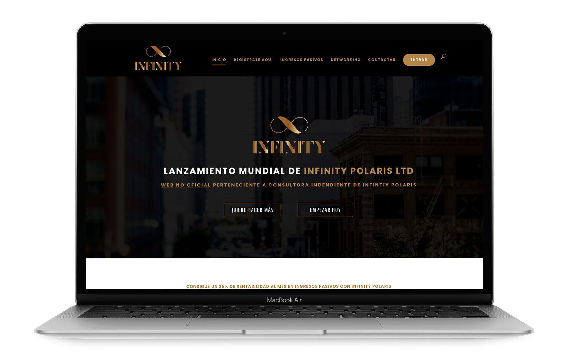 Diseño web de infinitynetwork.online - Infinity Polaris