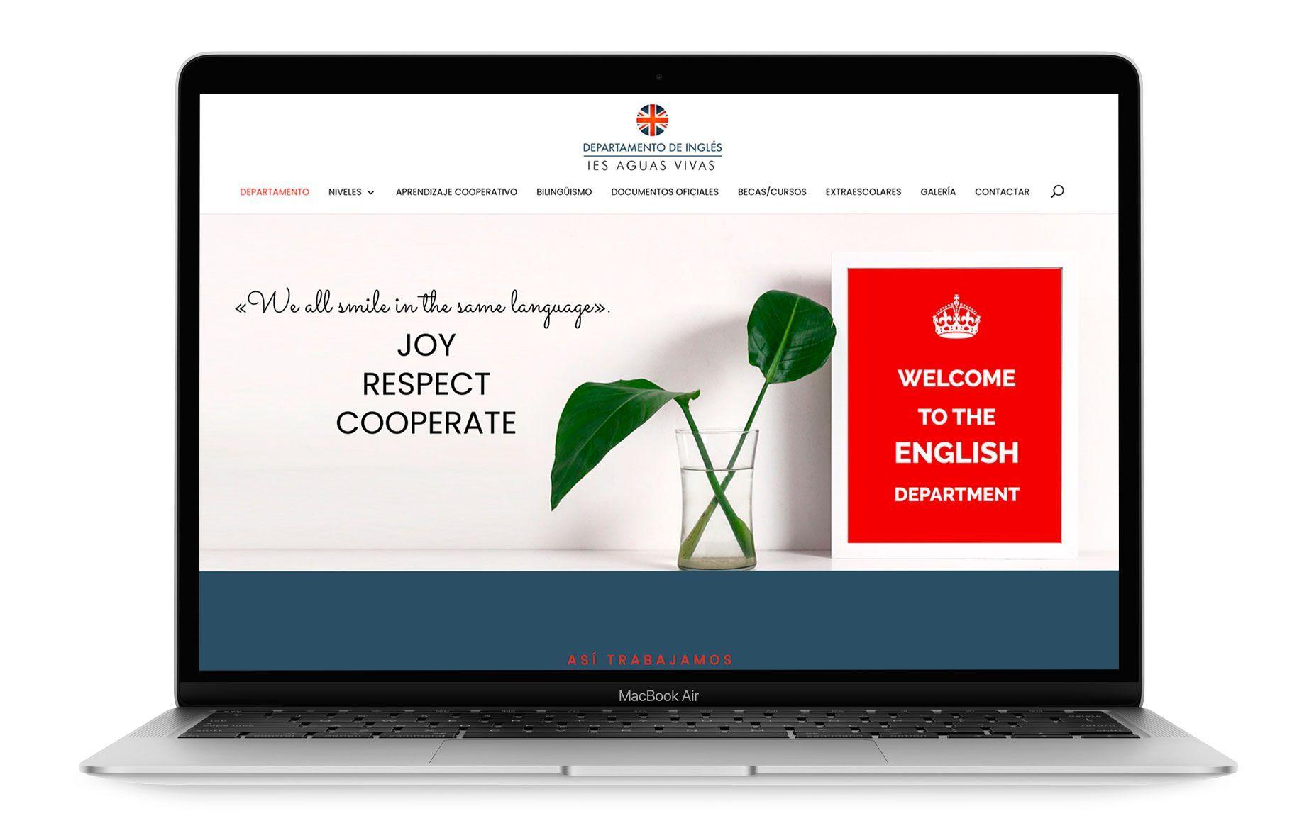 Diseño web de Departamento de Inglés IES Aguas Vivas