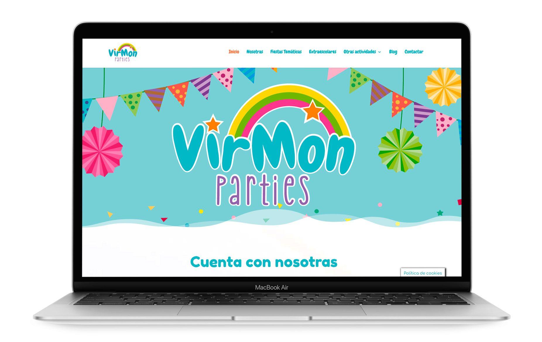 Diseño web de Virmon Parties